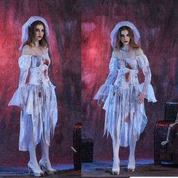 Female Vampire Halloween Costumes Canada - Halloween Halloween cosplay clothing stage costumes female Couples spirits Halloween zombie ghost bride