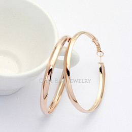 18k white gold hoop earrings NZ - Italina Rigant Accessories Wholesale 18K Gold Plated Fashionable And Personalized Hoop Hoop Earrings Women