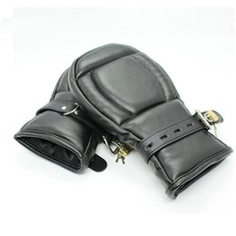 Leather Gloves For Men Australia - LZYAA Adult Game Locking Goth Padded Mittens Gloves Dog Paw Palm Leather Bondage Restraints Sex Toys For women men Products