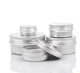 Empty Aluminum Cream Jar Tin 5 10 15 30 50 100g Cosmetic Lip Balm Containers Nail Derocation Crafts Pot Bottle on Sale