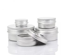 Vazio de Alumínio Creme Frasco De Lata 5 10 15 30 50 100g Recipientes de Bálsamo de Lábios Cosméticos Derocation Derocation Artesanato Pote Garrafa venda por atacado