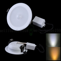 Vente en gros 5W E27 PIR Motion Sensor SMD 10 * SMD 5730 LED plafond Step Light Path Downlight Applique LLWA216