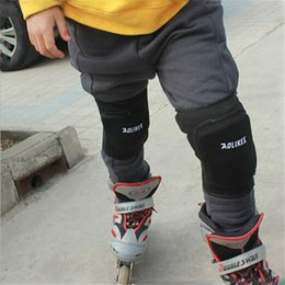 Elbow Supports Children Australia - Wholesale- Adults Children Warm Knee Pads Protector Sports Tendon Training Elastic Knee pad plate supporting Brace Supports Kneepad Thicken