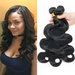 $enCountryForm.capitalKeyWord NZ - Indian Human Hair 3 Bundles lot Sale Body Wave Wet And Wavy Hair Extensions Natural Black Malaysian Peruvian Brazilian Cheap Virgin Hair