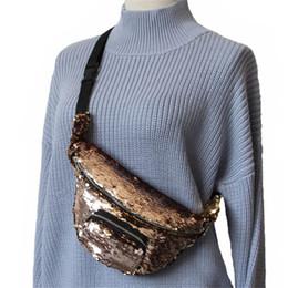 Gift set storaGe online shopping - Storage Toiletry Bag Adjustable Size Mermaid Reversible Sequin Zipper One Shoulder Waist Pack Lady Fashion Gift Multicolor lj C R