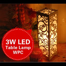 2017 Rustic Table Lamps Living Room Small LED Table Lamp Wood Plastic  Lampshade Rustic Modern Living Part 39