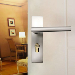 Attirant Space Aluminum Door Locks Indoor Home Bedroom Upscale Lever Lock Double  Bearing Alumina Silver Door Locks Door Hardware