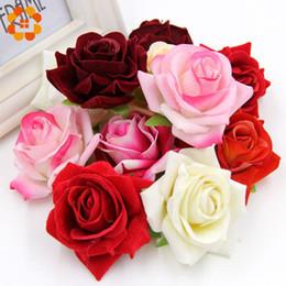Decorative rose buDs online shopping - 20pcs decorative Rose silk Flower Heads flower Buds Artificial Flower for Home Garden wedding Decoration