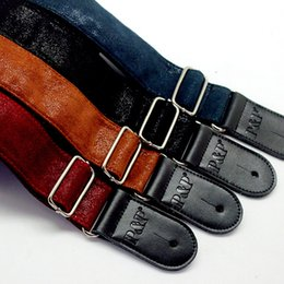 Chinese  2017 Soft Durable Leather Straps for Acoustic Electric Guitars bass Adjustable Guitar Strap in stock free shipping manufacturers