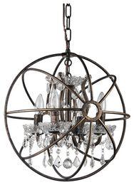 $enCountryForm.capitalKeyWord Canada - Pendant lights crystal pendant chandeliers Soft industrial style Iron Round lamps lighting Modern Luxury chandelier E14 indoor lighting