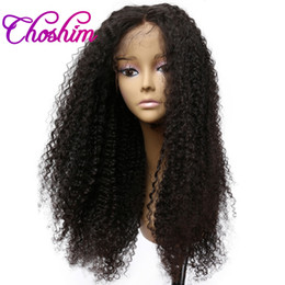 $enCountryForm.capitalKeyWord Australia - Choshim 150% Density Lace Front Human Hair Wigs For Black Women Brazilian Afro Kinky Curly Remy Hair Lace Wigs With Baby Hair KL