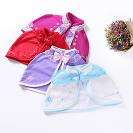 $enCountryForm.capitalKeyWord Australia - Girls Autumn Short Poncho Kids Cloak Chinese Style Bow Cappa Matching for Princess Dress Cosplay Costumes