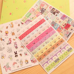 $enCountryForm.capitalKeyWord Canada - 6 Sheets set Rabbit Book Sticker For Diary Scrapbook Calendar Notebook laptop sticker Label Mobile Phone Decor Baby Girl Toys