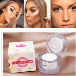 $enCountryForm.capitalKeyWord Canada - New Brand 2 in 1 Eye Make Up Face Brighten Highlighter Shining Shimmer Powder Pigment White Color Single Eyeshadow Palette