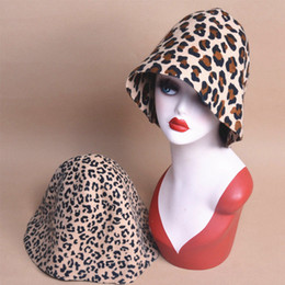 garden blocks Australia - Unisex Leopard Felt Body Wool Cone Cloche Hood Millinery Hats Block Base Fascinator Roll Brim B088