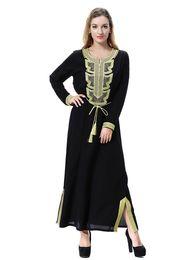 dafd88c097f Factory Price Plus Size Muslim Women Long Sleeve Kaftan Dress Islamic Women  Embroidery Jilbab Dress S-3XL
