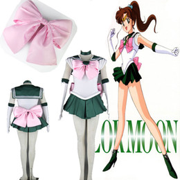 Wholesale sailor moon cosplay for sale - Group buy TOP Sale Anime Sailor Moon Sailor Jupiter Cosplay Costume Green Dress High Qualitiy Customized For Halloween