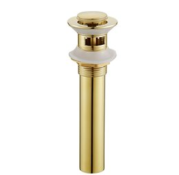 brass bathroom NZ - Brass Push Down Pop-Up Non-overflow Overflow Golden Bathroom Basin Drains with 1 1 2-Inch Flip Stopper