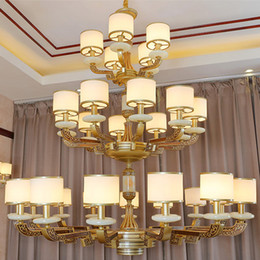 modern chinese lanterns Canada - Modern Chinese style high-end chandelier lights lanterns zinc alloy Chinoiserie marble decorative led chandeliers lighting pendant light