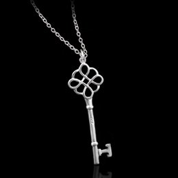 Chinese  New Fashion Key charms Necklaces Luxury Silver Plated Chain key Pendant Long Necklace 2016 Elegant Women Jewelry manufacturers