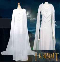 $enCountryForm.capitalKeyWord Canada - HOT Movie The Hobbit Lord of The Rings Fairy Queen Elven Prince Dress Cosplay Costume Long Dress White