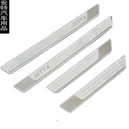 $enCountryForm.capitalKeyWord UK - Free shipping Stainless Steel Exterior Door Sill Scuff Plate Slim Welcome Pedal Threshold Strip For Volkswagen Jetta 2012-2015 car styling