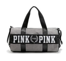 Large canvas duffeL bags online shopping - 2017 Canvas secret Storage Bag organizer Large Pink Men Women Travel Bag Waterproof Victoria Casual Beach Exercise Luggage Bags