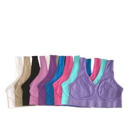 Sport Ladies UK - Top Quality Sexy Underwear Seamless Ladies ahh Bra Sizes Sport Bra Yoga Bra Microfiber Pullover Bra Body Shape 9 colors 6 size Free Shipping