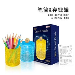 $enCountryForm.capitalKeyWord Canada - New Arrival 3D Crystal Puzzle Blocks Pen Container Money Box Educational Toys Christmas Kid's Present New Year Gift