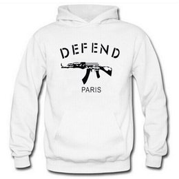 Discount taser guns - 2017 hot sales spring and autumn sports sweater DEFEND alphabet character printing round neck casual long sleeve Hoodies