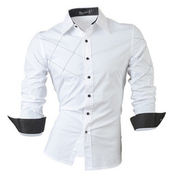 Casual Hemden Kleid Männliche Herren Kleidung Langarm Single Breasted Social Slim Fit Marke Boutique Baumwolle Western Button
