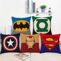 $enCountryForm.capitalKeyWord Canada - Hero Collection of Marvel Comics Abstract Art Pillow Case Cover Massager Decorative Pillows Warm Home Decor Gift