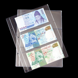 $enCountryForm.capitalKeyWord NZ - 10PCS Lot 3 line Page banknotes money transparent PVC page of paper money coin album loose-leaf inners of Coin Money holders