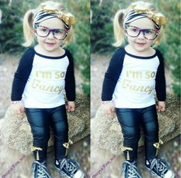 $enCountryForm.capitalKeyWord Canada - black long o-neck baby girls t-shirt children hot sellling letters white tops spring autumn season factory outlet toddler kids clothing
