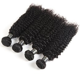 Human Hair Deep Wet Weave UK - Raw Indian 9A Unprocessed Virgin Hair Bundles Wet And Wavy Hair Loose Water Wave Natural Deep Wave Afro Kinky Curly Human Hair Extensions