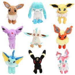 China 17-20cm Eevee Series plush toy Eevee Espeon Flareon Espeon Glaceon Jolteon Umbreon Vaporeon Leafeon Stuffed Doll Plush Toy suppliers