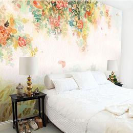 elegant photo wallpaper rose flower wall murals 3d custom wallpaper kids bedroom living room girls room decor interior design art watercolor