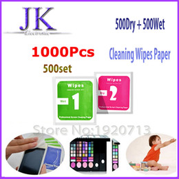 $enCountryForm.capitalKeyWord Canada - 1000pcs 500set Camera Lens Phone LCD Screen Dust Removal Dry Wet Cleaning Wipes Paper tools Set alcohol package for iPhone 6 5s