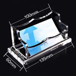 Transparent business cards online transparent plastic business free shipping high grade transparent acrylic business card holder large capacity desktop card holder school office supplies papelaria reheart Gallery