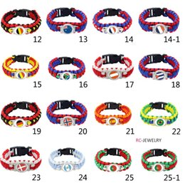 fashion paracord bracelets Canada - 2017 fashion 42 countries flag Survival Paracord Bracelet new U.S flag bracelet Survival Paracord lifesaving bracelet for men and women