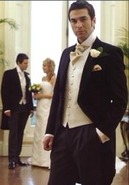 $enCountryForm.capitalKeyWord NZ - Hot CUSTOM MADE TO MEASURE TAILCOAT BESPOKE GROOM WEDDING TUXEDOS FOR MEN TAILORED MEN SUITS FOR BESTMAN GROOM SUIT 2016 LONG TAIL TUXEDO