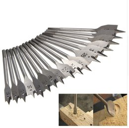 Metric Drill Bits Canada - 17Pcs 11-38MM Machine Flat Wood Drill Bits - All Metric Sizes Spade Bit Wallated High Quality Power Tools