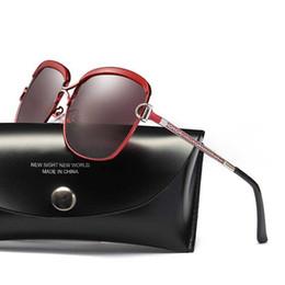 Discount korean sun glasses Designer Sunglasses For Women With Polarized Color Glass Fashion Luxury Brand Sun Glasses Trend Korean Sunglass With Lar