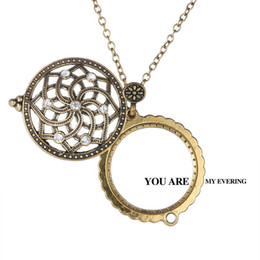 rhinestone glasses chain Australia - Women Flower shape long chain necklaces Magnifying Glass long Sweater chain necklace Daily Reading father mother gift with box