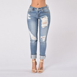 Light Blue Ripped Jeans Womens Online | Light Blue Ripped Jeans ...