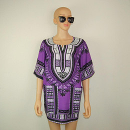 african summer traditional dresses Canada - Boho Women Summer Dress Hippie Punk Traditional Dashiki Top Shirt Dresses for African Clothing Plus Size