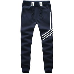 Pantalon De Harem Empoché Pas Cher-Gros-2016 Marque Autumn Joggers Men Outdoor Training Sweatpants Homme Cotton Sarouel Pocket Casual Mens Joggers de Pantalons solides
