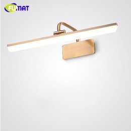 FUMAT American Style Mirror Front Light European Bathroom Lamp Cabinet Wall LED Nordic Restroom Makeup