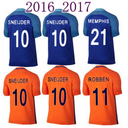 cc9832f0a90 ... football shirts bazoea a1605 9ac27  sweden soccer country jersey new 2016  2017 netherlands jersey 16 17 robben home orange away blue