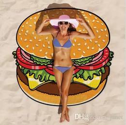 Round Skull NZ - HOT Summer Emoji Fruits Beach Towel 18 Styles Pizza Hamburger Donut Skull Ice Cream Strawberry Polyester Round Beach Shower Towel